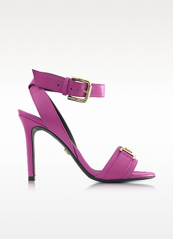 Pink Leather Sandal - Versace