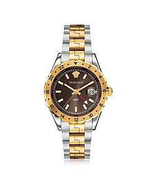 Hellenyium GMT Stainless Steel Men's Watch w/Greek Inserts - Versace