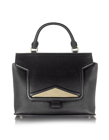 Mosaic 30 Black Leather and Ayers Medium Satchel Bag w/Shoulder Strap