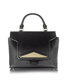 Mosaic 30 Black Leather and Ayers Medium Satchel Bag w/Shoulder Strap - Vionnet