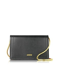 Black Leather & Pink Suede Pochette w/Chain Strap - Vionnet