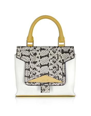 Mosaic 20 Multicolor Leather & Elaphe Mini Satchel Bag w/Shoulder Strap