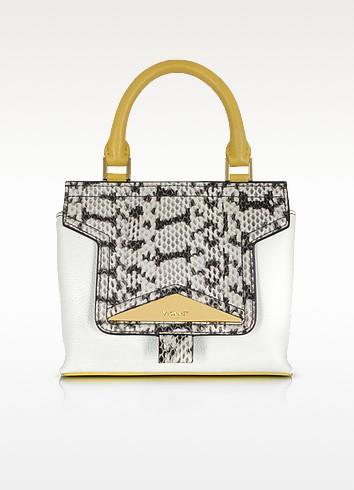Mosaic 20 Multicolor Leather & Elaphe Mini Satchel Bag w/Shoulder Strap - Vionnet