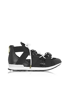 Leather and Elaphè Pon Pon Sneakers - Vionnet