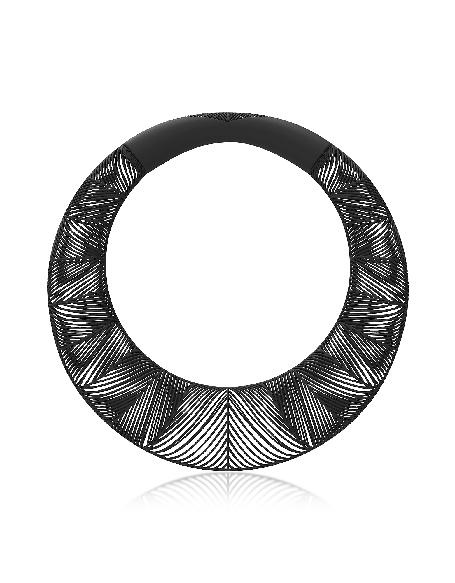 Vojd Studios Designer Necklaces, Umbala Black Chevron Giant Torque
