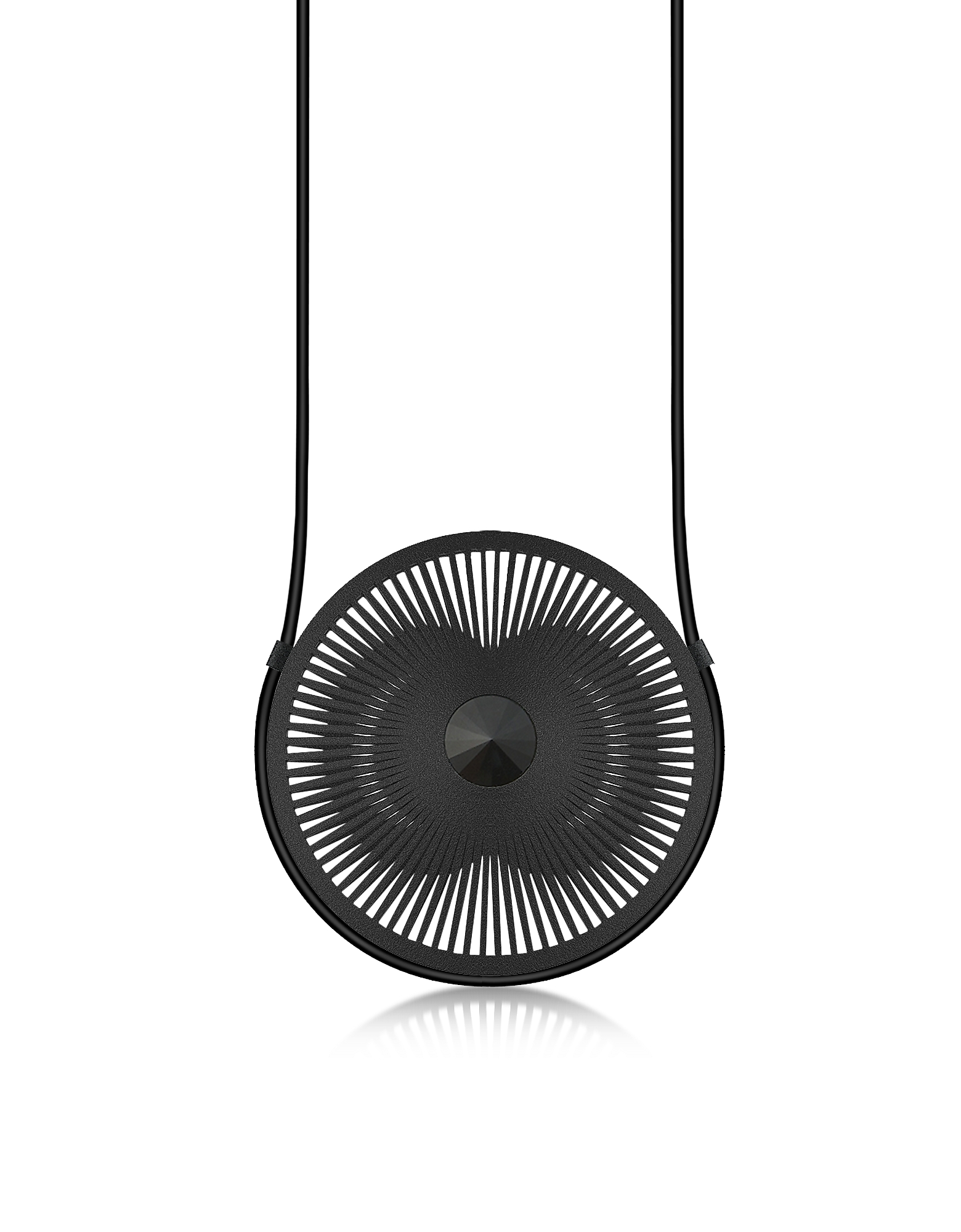 Image of Vojd Studios Designer Necklaces, Phase Black Statement Round Pendant