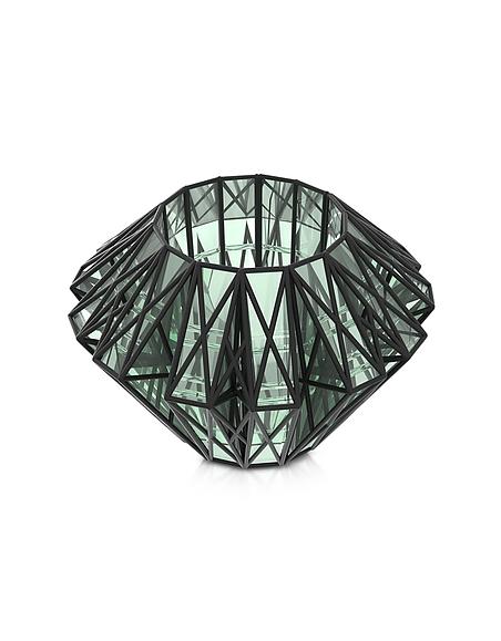 Foto Vojd Studios Translucent Glass Cage Braccialetto in Acrilico Verde Trasparente e Nylon 3D Braccialetti