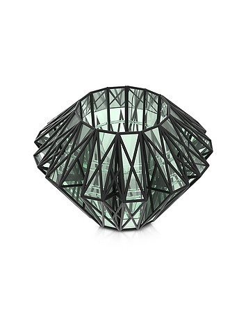 Vojd Studios - Translucent Glass Cage Statement Cuff