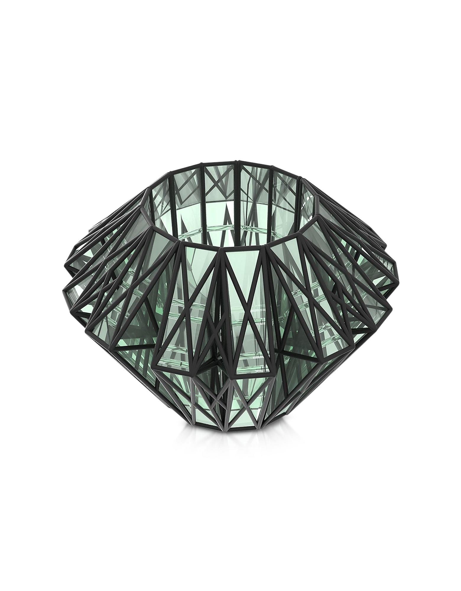 Translucent Glass Cage Statement Cuff