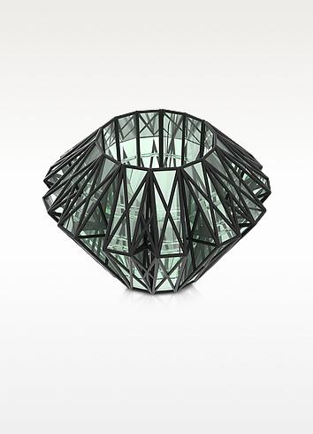 Translucent Glass Cage Statement Cuff - Vojd Studios