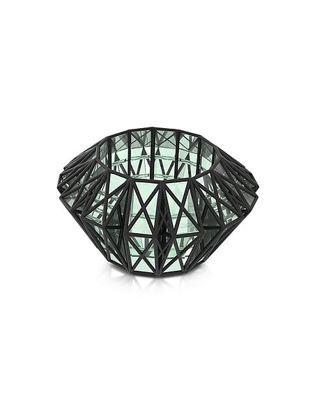Foto Vojd Studios Translucent Glass Cage Braccialetto in Acrylico Verde Trasparente e Nylon 3D Braccialetti
