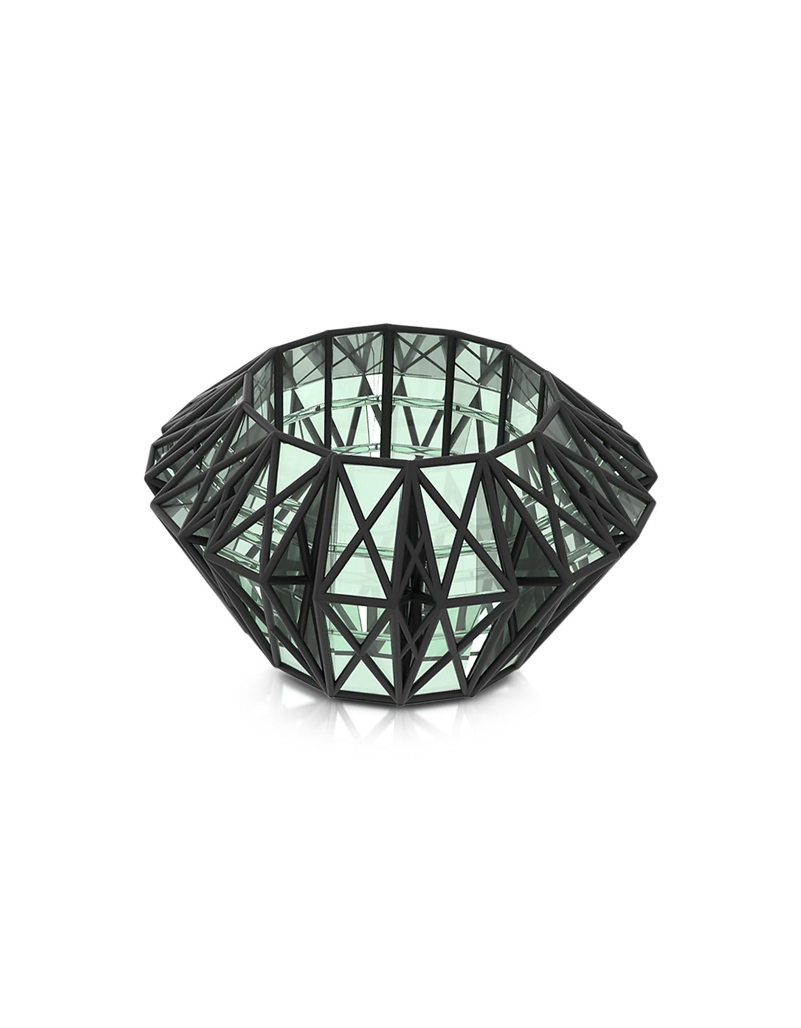 Vojd Studios Bracelets, Translucent Glass Cage Cuff