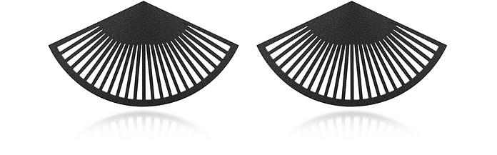 Phase Black Fan Earrings - Vojd Studios