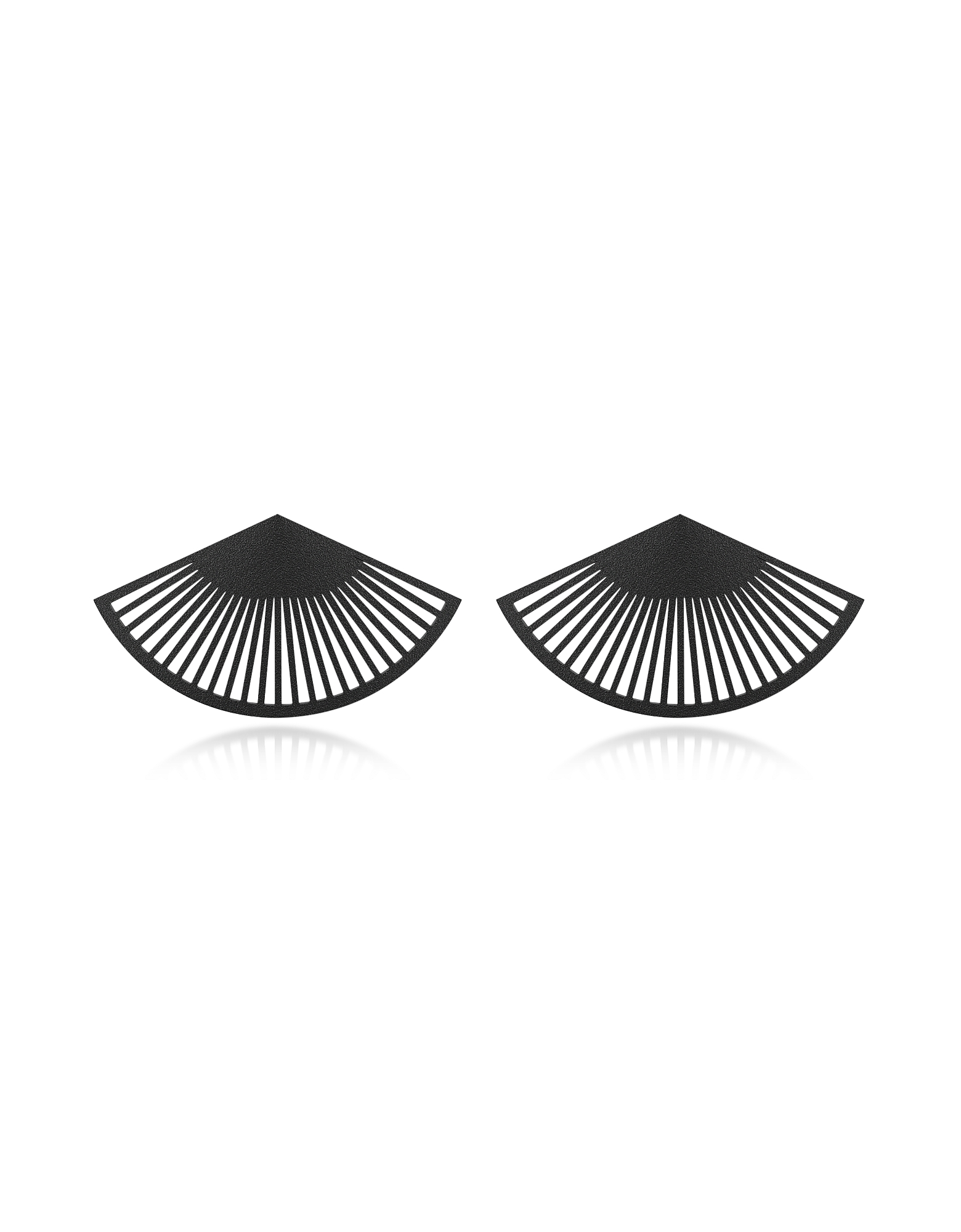 Vojd Studios Earrings, Phase Black Fan Earrings