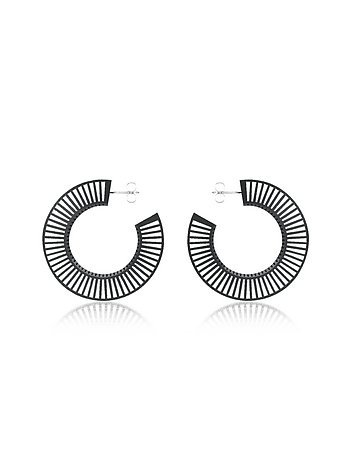 Vojd Studios - Phase Black Hoop Earrings