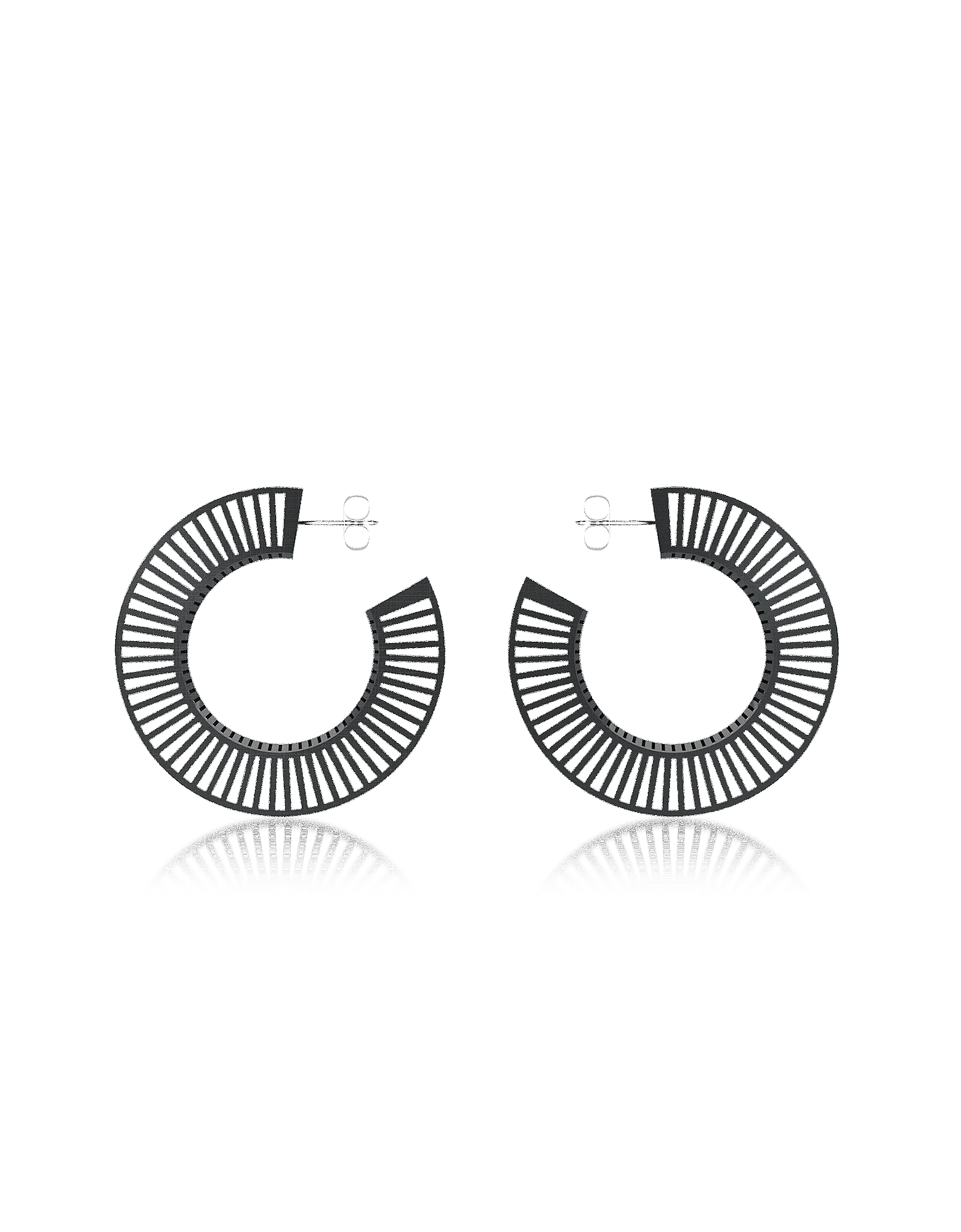 Vojd Studios Earrings, Phase Black Hoop Earrings