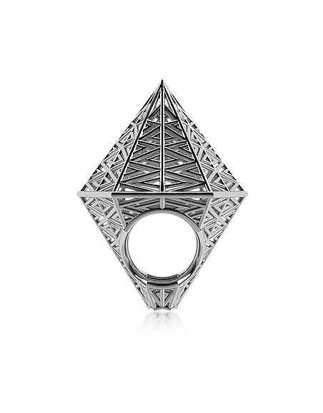 Vojd Studios Umbala hexagonaler Ring aus Sterlingsilber
