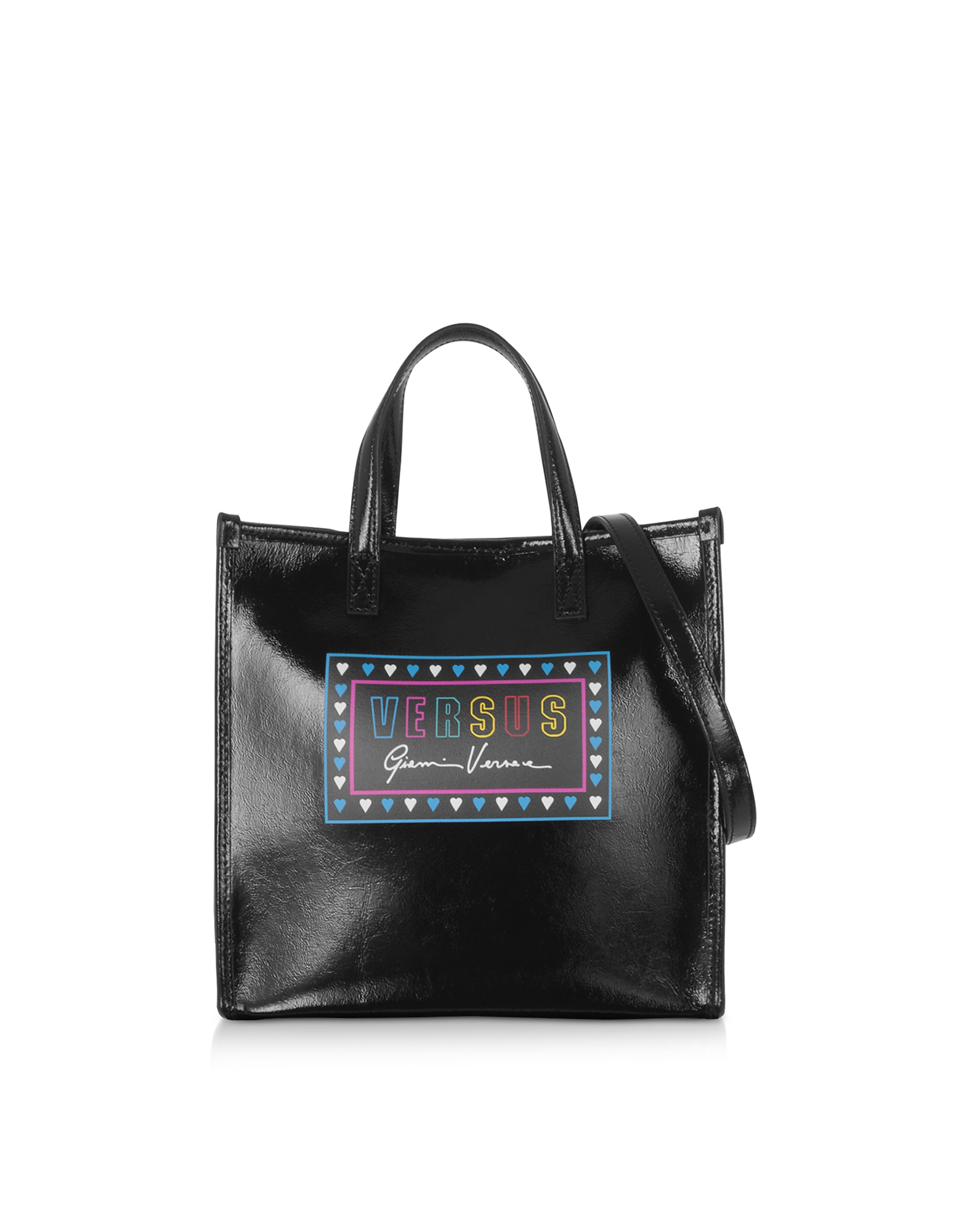 Versus 90s Logo Naplak Tote Bag, Black