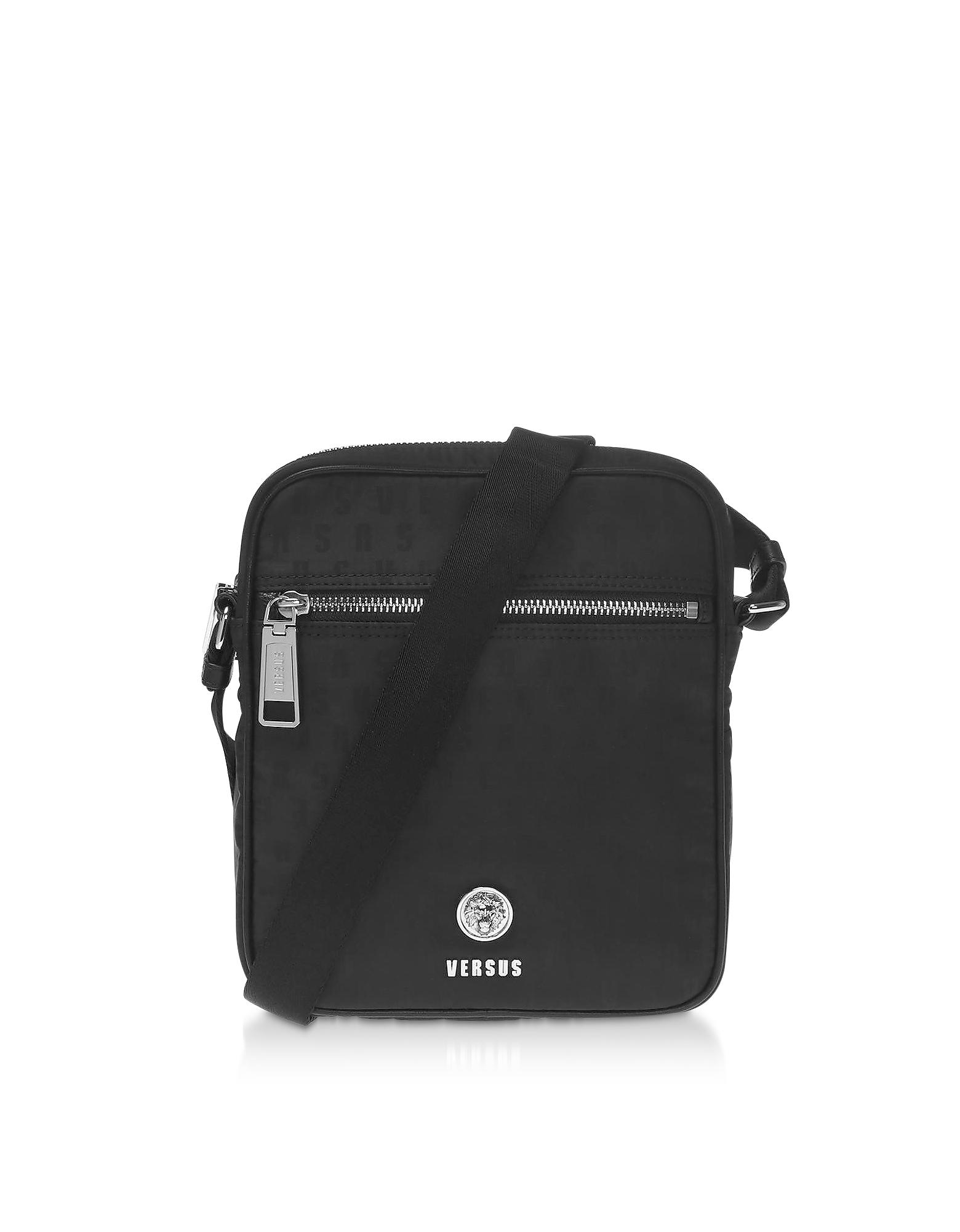 Black Signature Nylon Crossbody Bag
