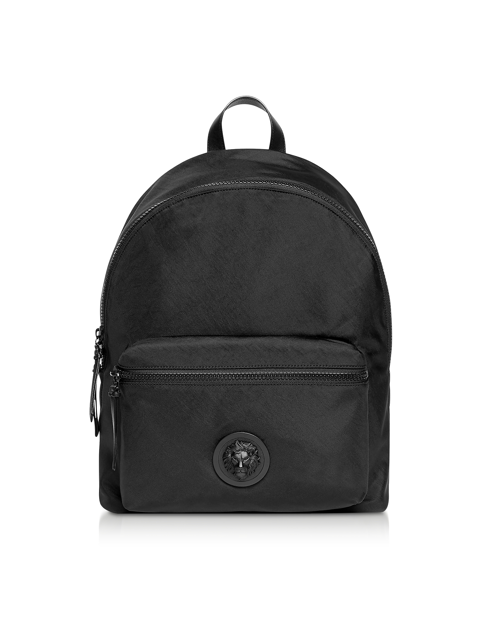 Black Washed Nylon Backpack
