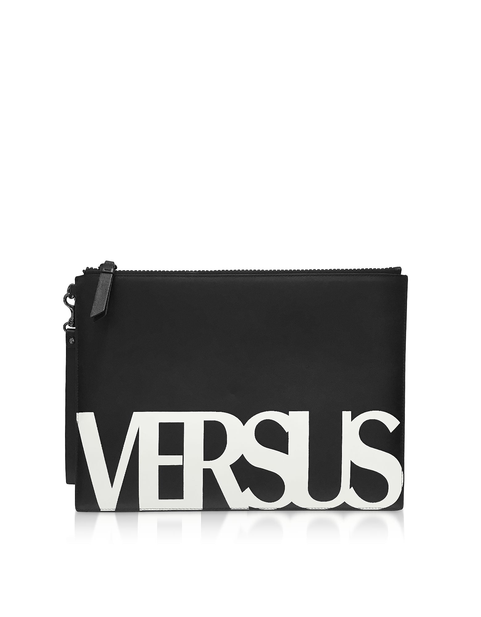 Black Coated Canvas Pouch