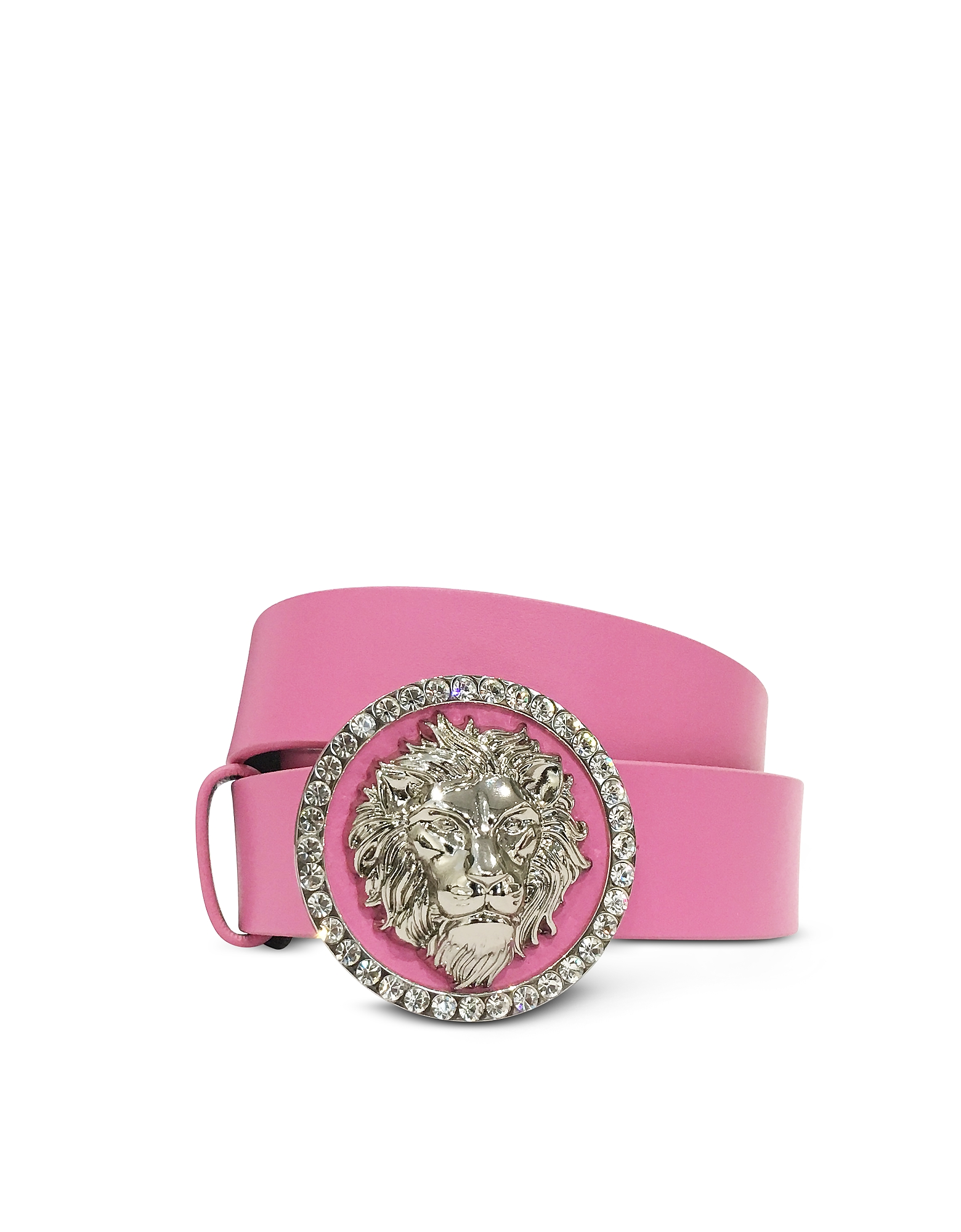 Crystal Lion Buckle Women's Belt