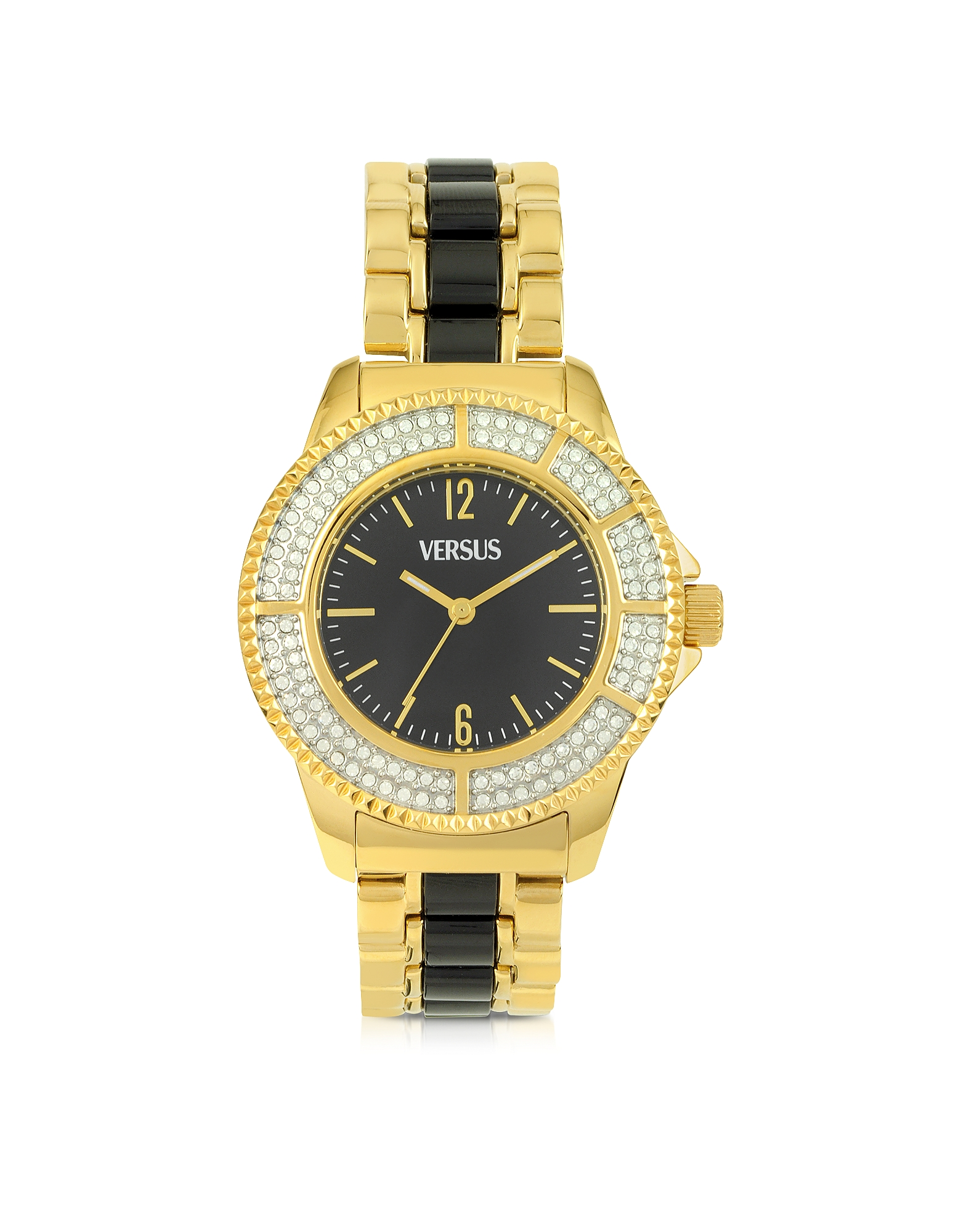 Versace Versus Women's Watches, Tokyo Crystal 38 Gold and Black Women's Watch
