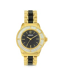 Tokyo Crystal 38 Gold and Black Women's Watch - Versace Versus