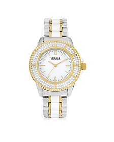 Tokyo Crystal 38 White and Gold Stainless Steel Women's Watch - Versace Versus