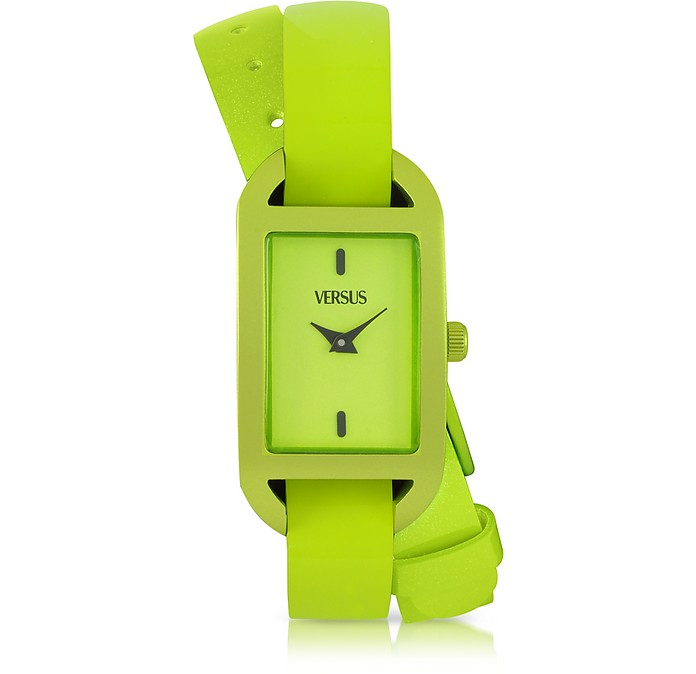 Ibiza Aluminum and Leather Wrap Women's Watch - Versace Versus