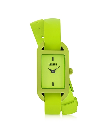 Versace Versus - Ibiza Aluminum and Leather Wrap Women's Watch