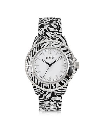 Tokyo 42 Stainless Steel Zebra Women's Watch