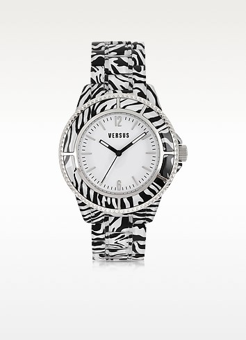 Tokyo 42 Stainless Steel Zebra Women's Watch - Versace Versus