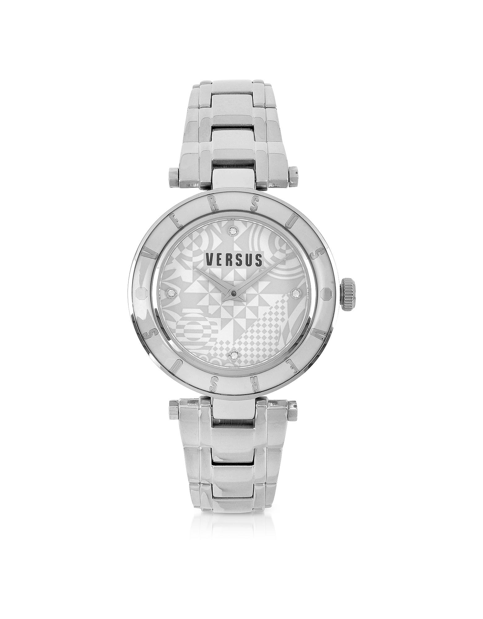 Серебристые Женские Часы из Нержавеющей Стали с Логотипом