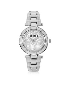 Logo Silver Stainless Steel Women's Watch - Versace Versus