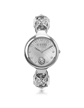 Versace Versus - Broadwood Silver Stainless Steel Women's Bracelet Watch w/Crystals