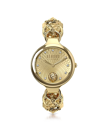 Broadwood Gold Tone Stainless Steel Women S Bracelet Watch W Crystals