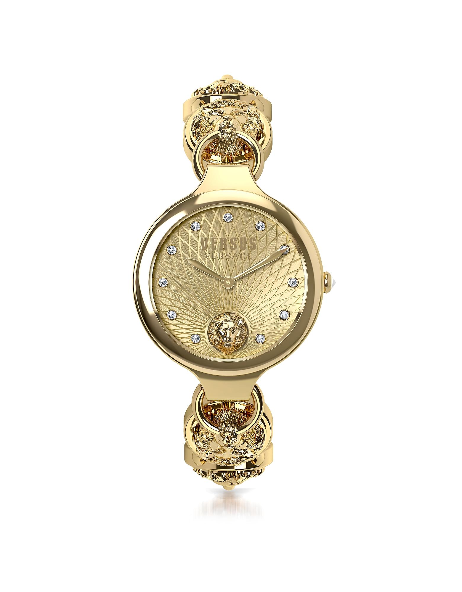 Broadwood Gold Tone Stainless Steel Women's Bracelet Watch w/Crystals