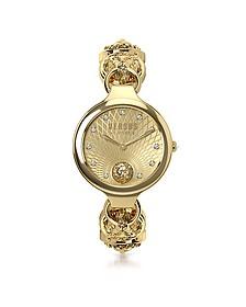 Broadwood Gold Tone Stainless Steel Women's Bracelet Watch w/Crystals - Versace Versus