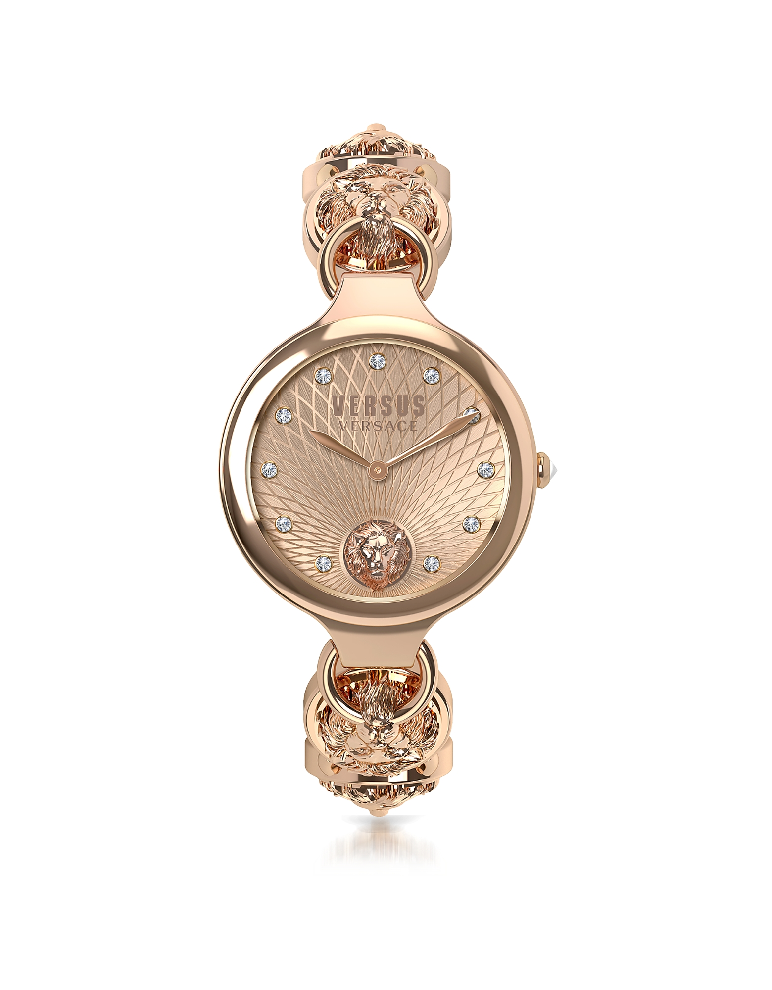 Broadwood Rose Gold Tone Stainless Steel Women's Bracelet Watch w/Crystals