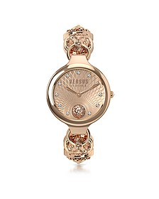 Broadwood Rose Gold Tone Stainless Steel Women's Bracelet Watch w/Crystals - Versace Versus