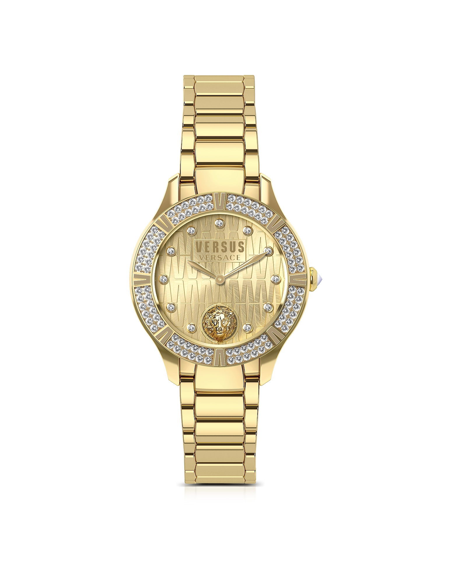 Canton Road Gold Tone Stainless Steel Women's Bracelet Watch w/Crystals