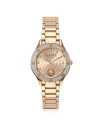 Versace Versus - Canton Road Rose Gold Tone Stainless Steel Women's Bracelet Watch w/Crystals