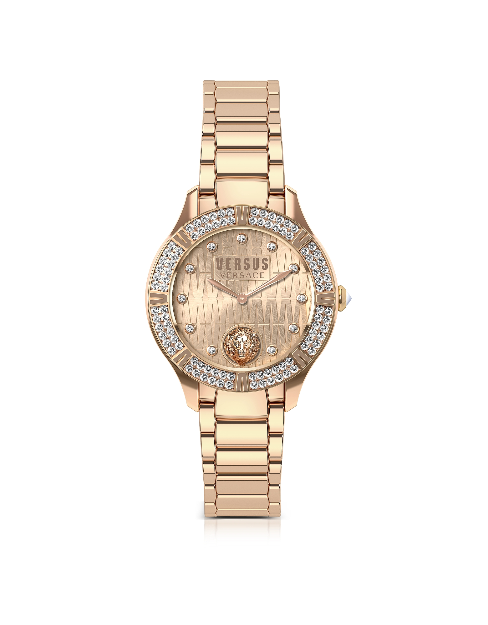 Canton Road Rose Gold Tone Stainless Steel Women's Bracelet Watch w/Crystals