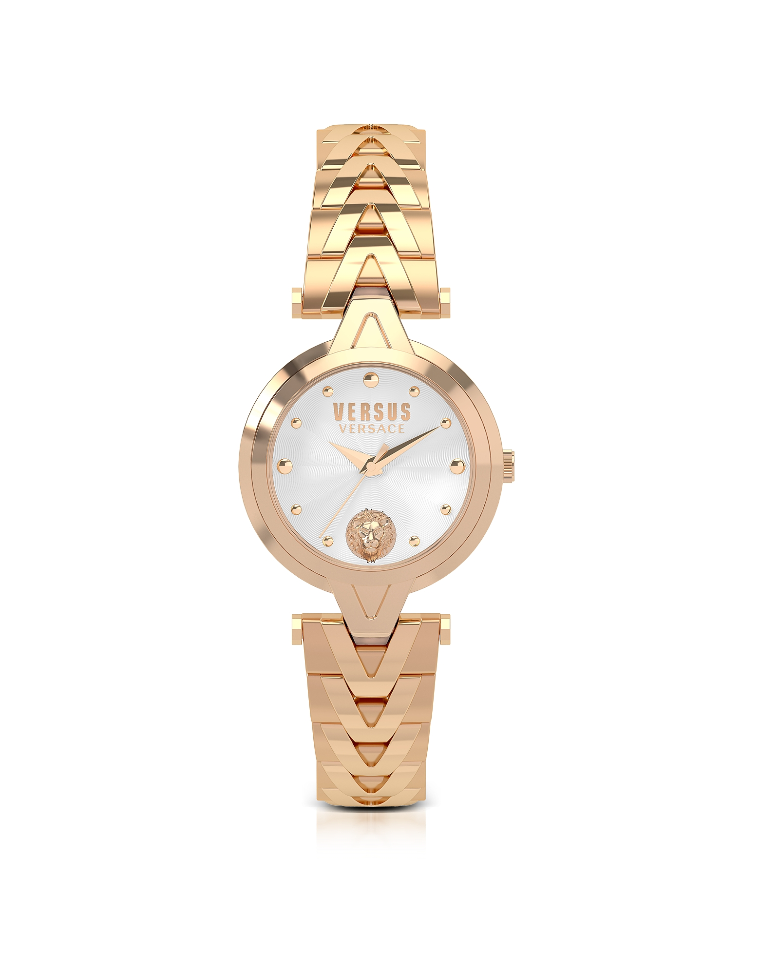 V Versus Rose Gold Tone Stainless Steel Women's Bracelet Watch Versace Versus