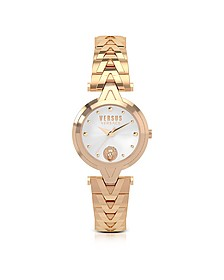 V Versus Rose Gold Tone Stainless Steel Women's Bracelet Watch - Versace Versus