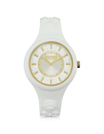 Versace Versus - Fire Island Silicon and Gold Tone Stainless Steel Women's Watch