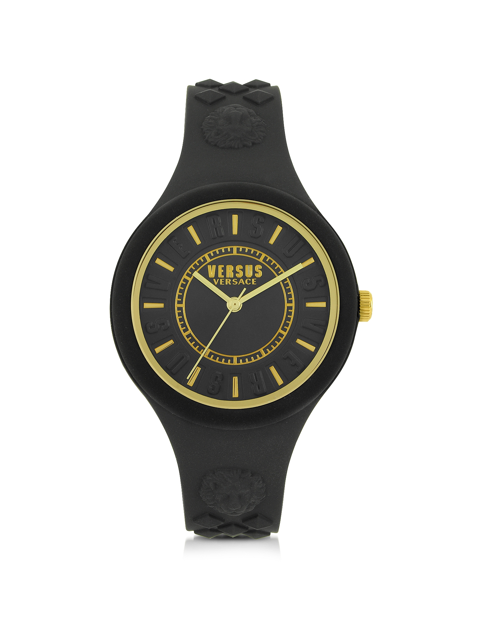 Versace Versus Women's Watches, Fire Island Silicon and Gold Tone Stainless Steel Women's Watch