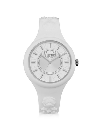 Versace Versus - Fire Island Silicon and Silver Tone Stainless Steel Women's Watch
