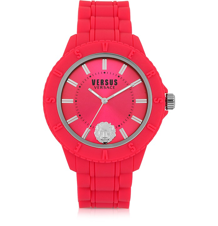 Tokyo Silicon and Silver Tone Stainless Steel Unisex Watch - Versace Versus